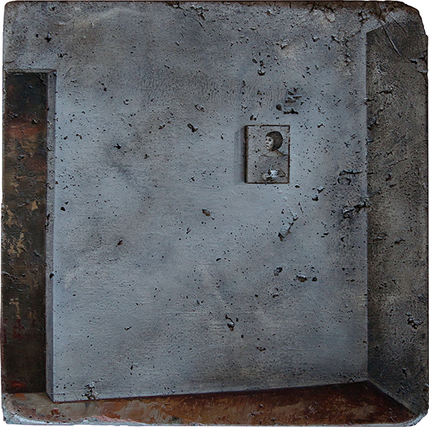 MORNING REVERIE, 2019, Oil on concrete, 27 x 27 cm