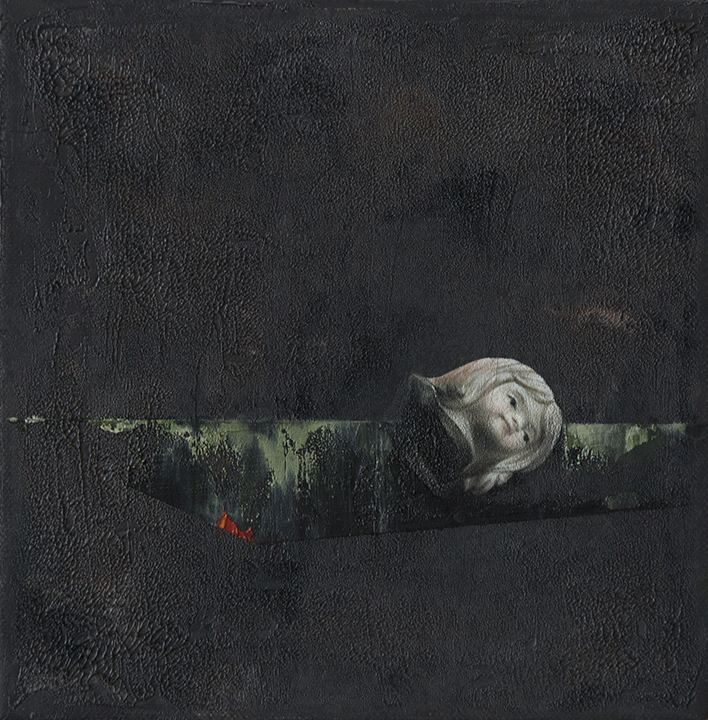 SOLITUDE 2, 2019, Egg Tempera, Acrylic & Oil on canvas, 20 x 20 cm