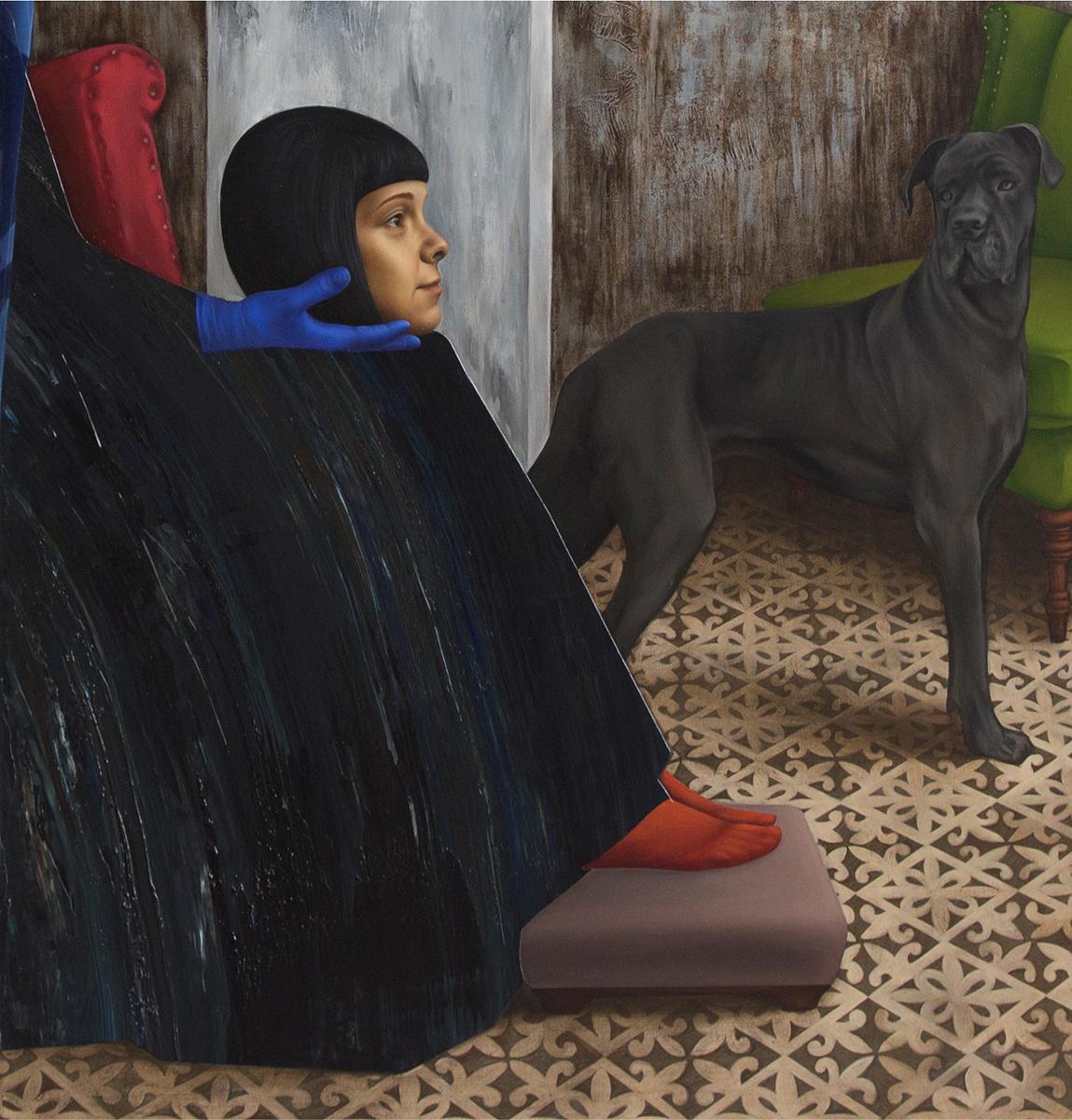 HIATUS (detail), 2019, Acrylic & Egg Tempera & Oil on canvas, diptich 170 x 150 cm